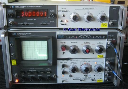 Operating HP 141T Spectrum Analyser