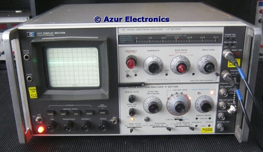 Operating HP 141T Spectrum Analyser